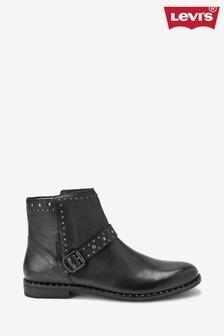 Levi's® Black Stud Ankle Boots