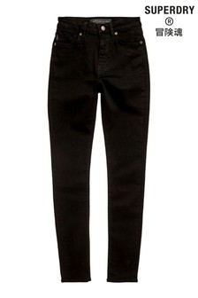 Superdry High Rise Black Skinny Jeans