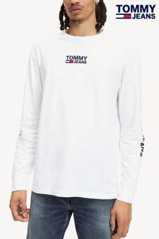 Tommy Jeans Langärmeliges T-Shirt mit Logo