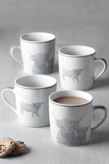 Set of 4 Hamish Mugs