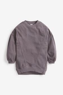 Washed Oversized Crew Sweatshirt (3-16yrs)