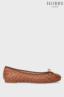 Hobbs Brown Casey Ballerina Shoes