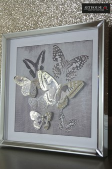 3D Butterfly Filled Frame by Arthouse