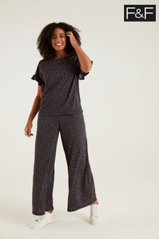 F&F Co-ord Blush Spot Trousers