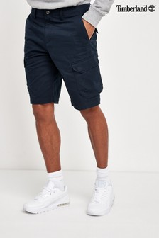 Timberland® Navy Stretch Twill Relaxed Cargo Shorts
