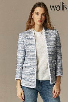 Wallis Blue Bouclé Jacket