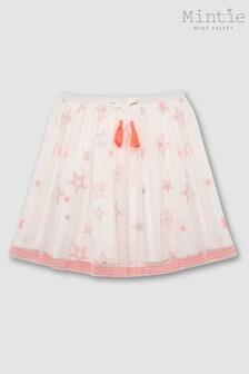 Mintie by Mint Velvet Ivory Embroidered Star Skirt