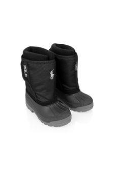 Ralph Lauren Kids Black Snow Boots