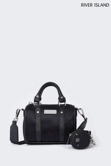 River Island Black Mini Bowler Bag