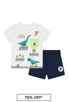 Converse Baby Boys Navy Cotton Outfit
