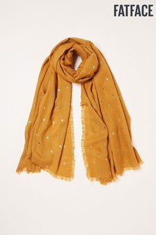 FatFace Yellow Foil Star Scarf