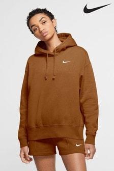 Nike Trend Brown Fleece Overhead Hoody