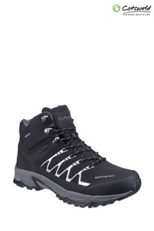 Cotswold Black Abbeydale Mid Hiker Boots