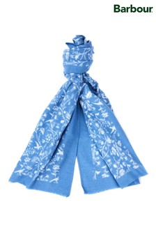 Barbour®/Laura Ashley Blue Floral Print Elm Scarf
