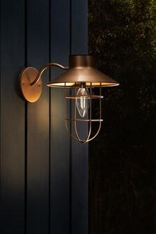 Solar Copper Finish Wall Light