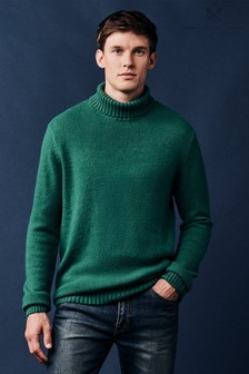 Crew Clothing Green Warley Roll Neck Jumper