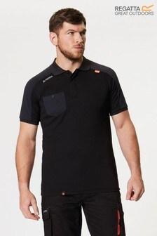 Regatta Black Offensive Wicking Poloshirt