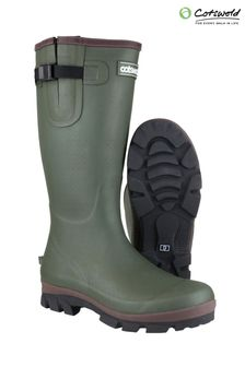 Cotswold Green Grange Buckle Fastening Wellington Boots