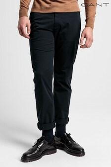 Gant Black Regular Twill Chinos