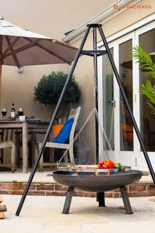 Deluxe Hanging Tripod with Cooking Grill by La Hacienda