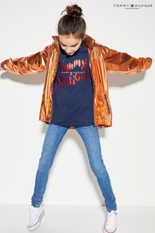 Tommy Hilfiger Orange Metallic High Shine Jacket