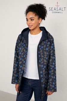 Seasalt Berry Sprigs Midnight The Reversible Raincoat