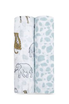 aden+anais Jungle Large Swaddles Cotton Muslins Two Pack