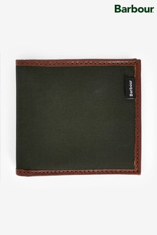 Barbour® Olive Drywax Billfold Wallet