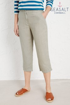 Seasalt Grey Brawn Point Cropped Trousers - Petite