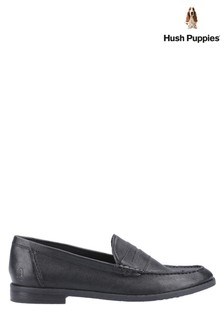 Hush Puppies Black Wren Slip-On Loafers