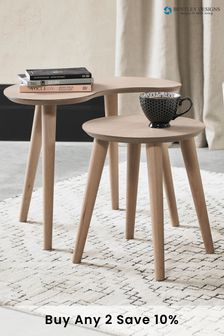 Dansk Scandi Nest of Tables by Bentley Designs