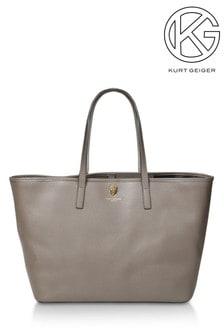 Kurt Geiger London Richmond Khaki Shopper Bag