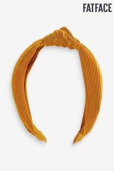 FatFace Yellow Pleated S Headband