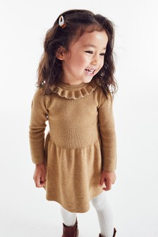 Frill Neck Jumper Dress (3mths-7yrs)