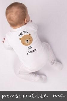 Personalised Bear Cub Sleepsuit