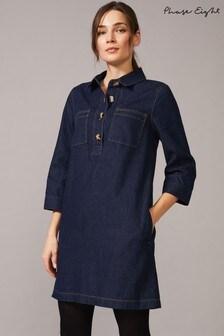 Phase Eight Blue Kirsty Denim Dress