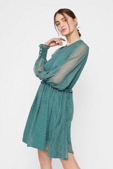 Y.A.S. Green Floral Mini Dress