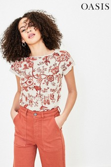 Oasis Orange Tropical Print T-Shirt