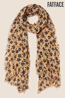 FatFace Yellow Inky Floral Scarf