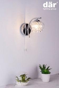 Dar Lighting Silver Elma Wall Light
