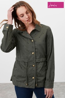 Joules Green Cotton Casual Jacket