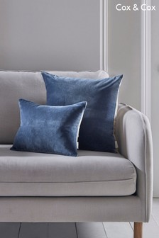 Cox & Cox Velvet And Linen Rectangular Cushion