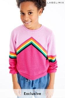 Mix/Madeleine Thompson Girls Rainbow Jumper