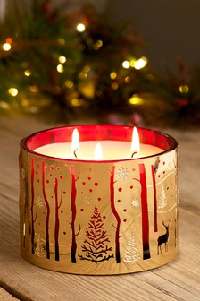 Festive Spice 3 Wick Candle