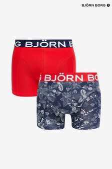 Bjorn Borg 2 Pack Floral Print/Solid Colour Trunks