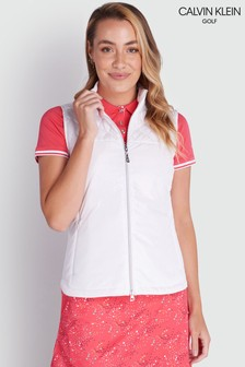 Calvin Klein Golf White Khloe Quilted Panel Gilet