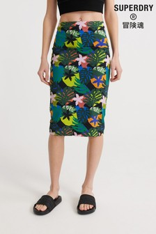 Superdry Miami Midi Bodycon Skirt