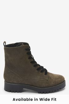 Forever Comfort® Leather Lace-Up Boots