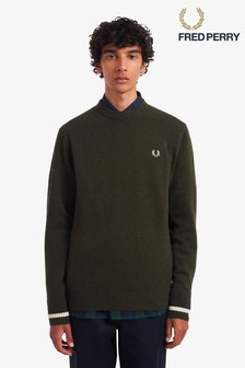 Fred Perry Tipped Crew Neck Jumper