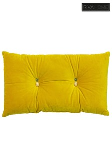 Velvet Pineapple Detail Cushion by Riva Home